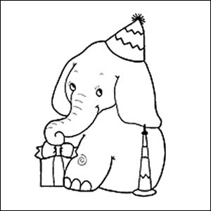kleurplaat-olifant-jarig